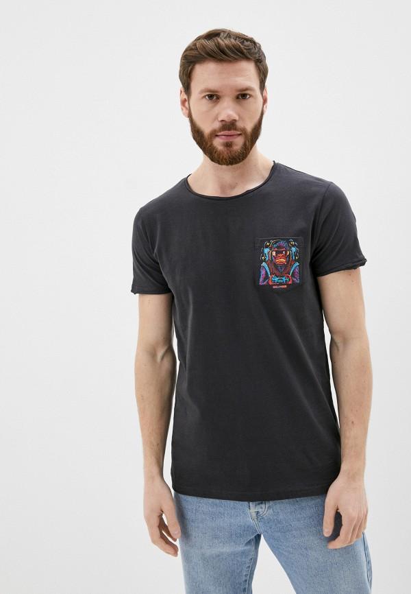 мужская футболка с коротким рукавом sublevel, черная