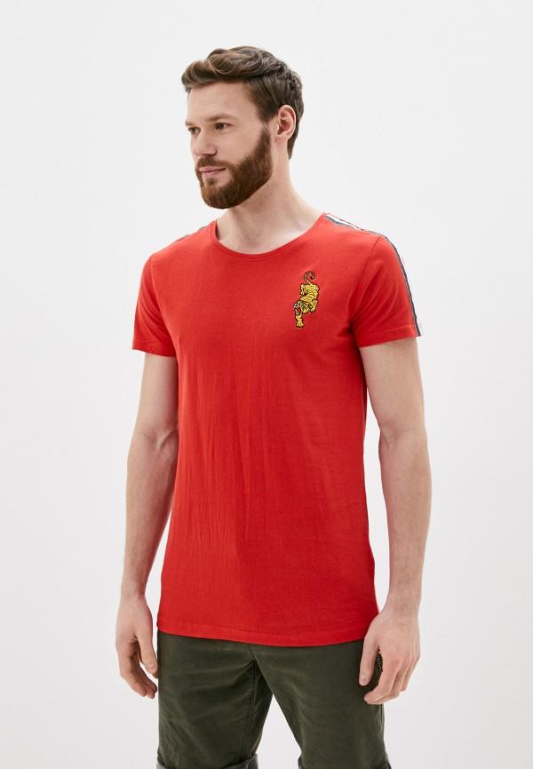 мужская футболка с коротким рукавом sublevel, красная