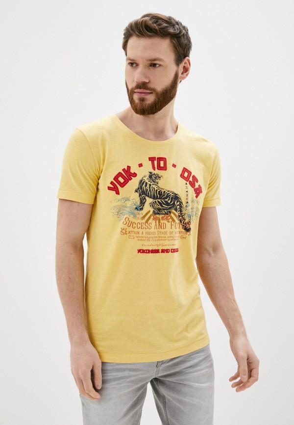 мужская футболка с коротким рукавом sublevel, желтая