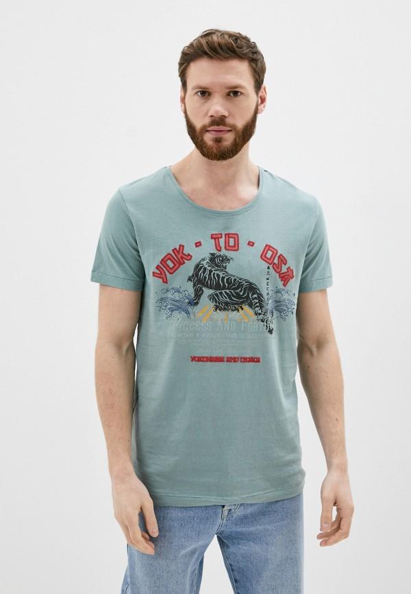 мужская футболка с коротким рукавом sublevel, бирюзовая