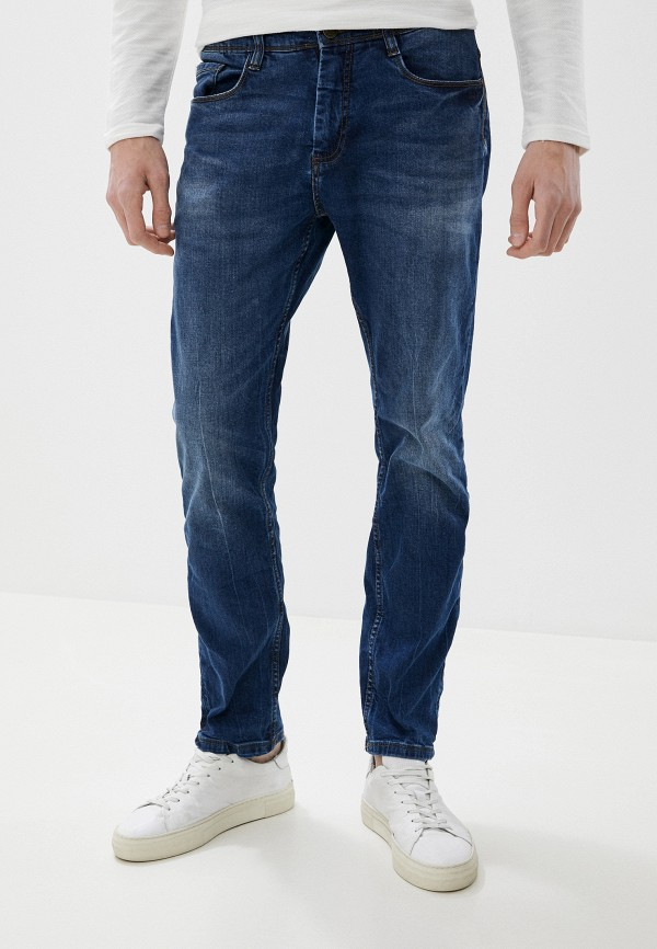 мужские зауженные джинсы sublevel, синие