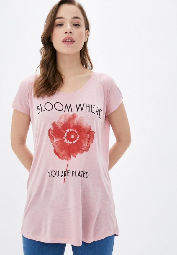 женская футболка sublevel, розовая