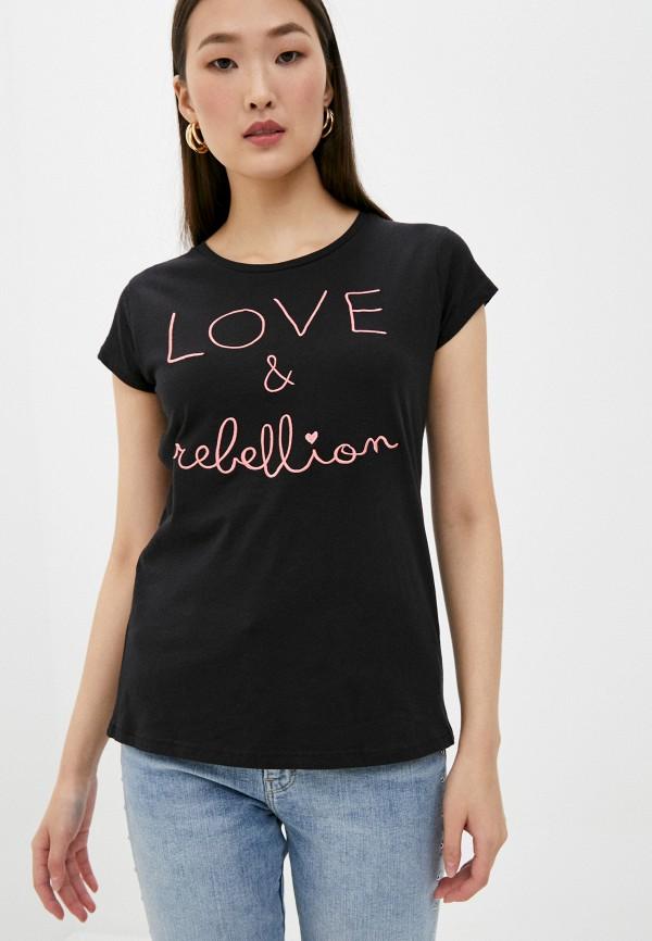 женская футболка sublevel, черная