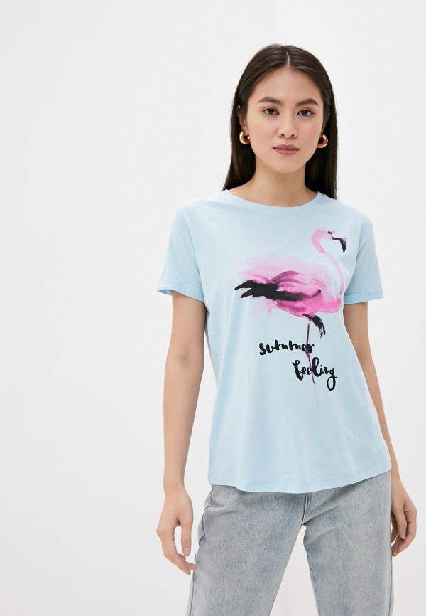 женская футболка sublevel, голубая