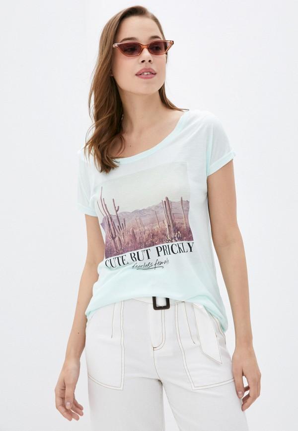 женская футболка sublevel, бирюзовая