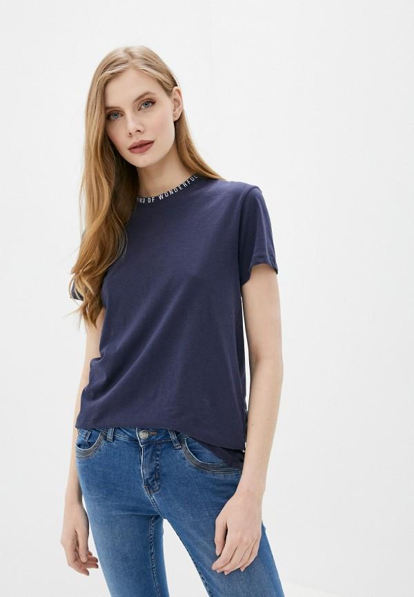 женская футболка sublevel, синяя