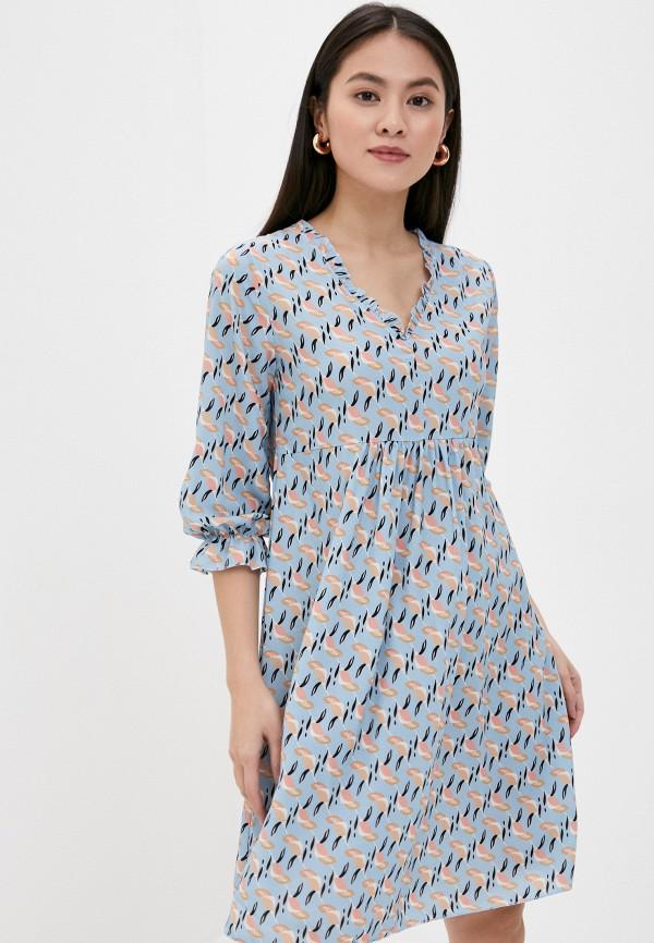 женское повседневные платье sublevel, голубое