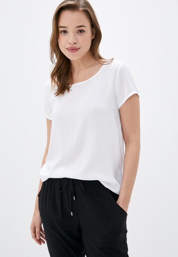 женская блузка с коротким рукавом sublevel, белая