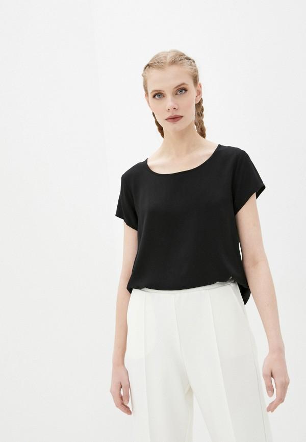 женская блузка с коротким рукавом sublevel, черная