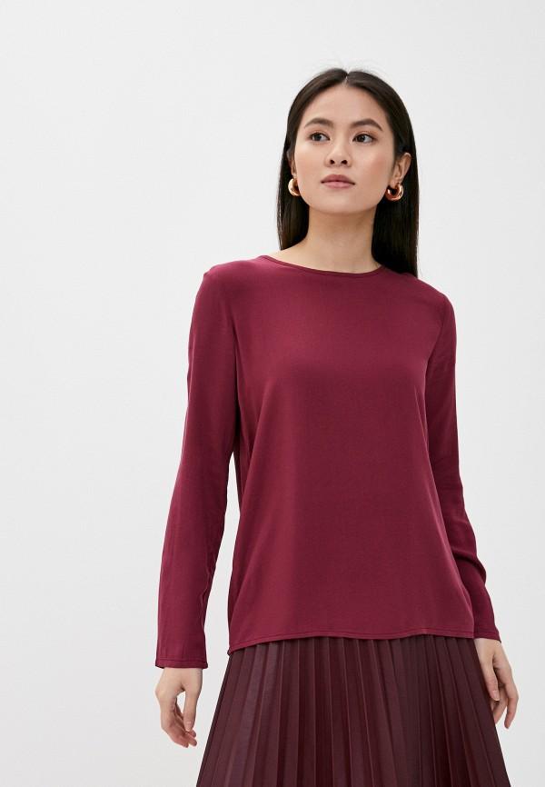 женская блузка с длинным рукавом sublevel, бордовая