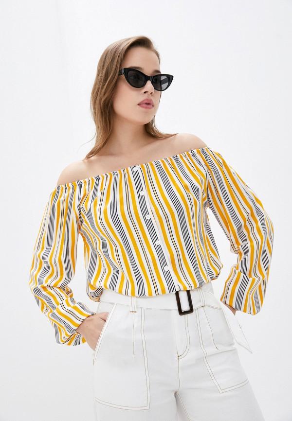 женская блузка с открытыми плечами sublevel, разноцветная