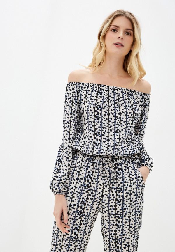 женская блузка с открытыми плечами sublevel, белая