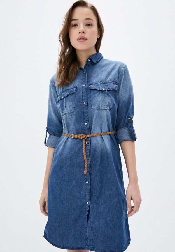 женское джинсовые платье sublevel, синее