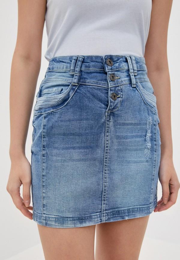 женская джинсовые юбка sublevel, синяя