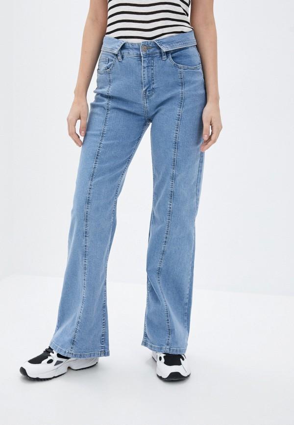 женские джинсы клеш sublevel, голубые