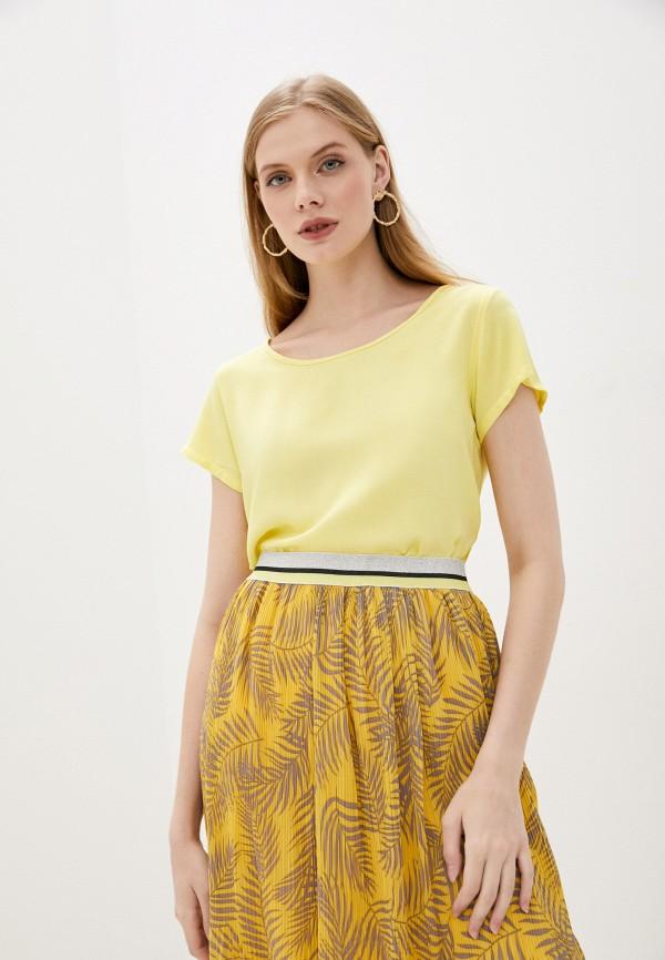 женская блузка sublevel, желтая
