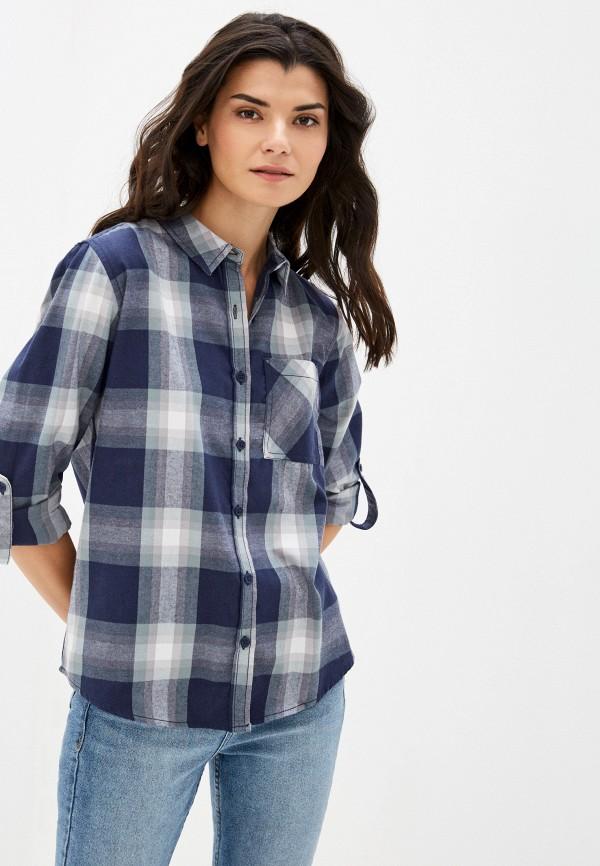 женская рубашка с длинным рукавом sublevel, синяя