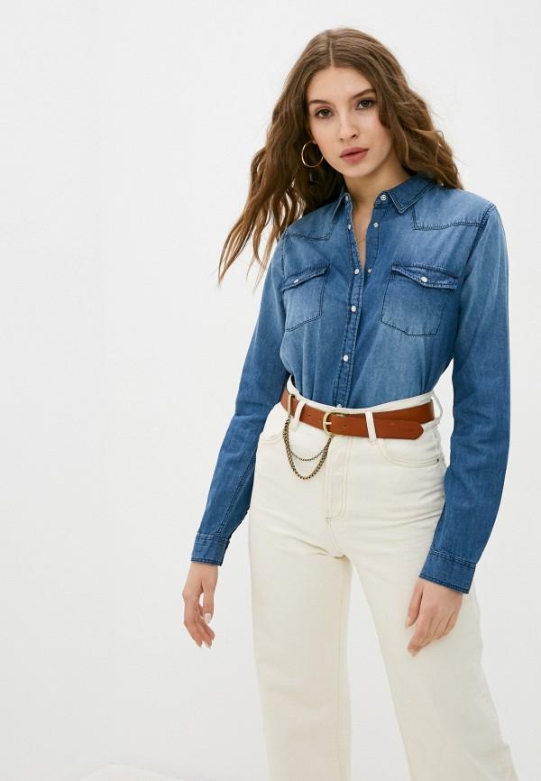 женская джинсовые рубашка sublevel, синяя