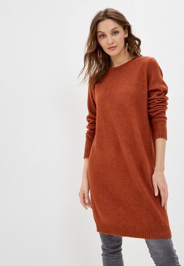 женское платье sublevel, коричневое