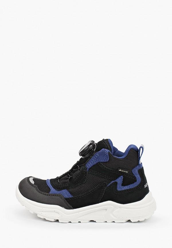ботинки superfit для мальчика, черные