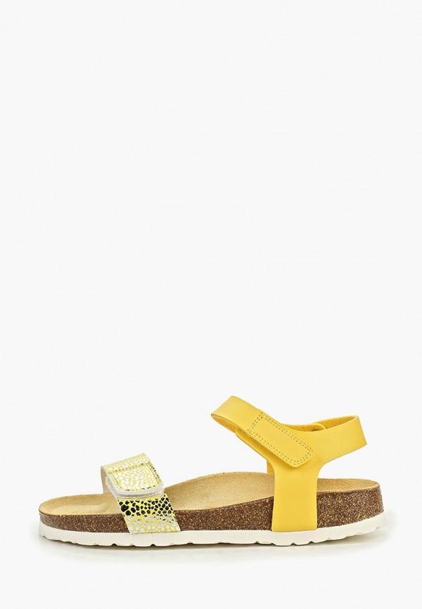 сандалии superfit для девочки, желтые
