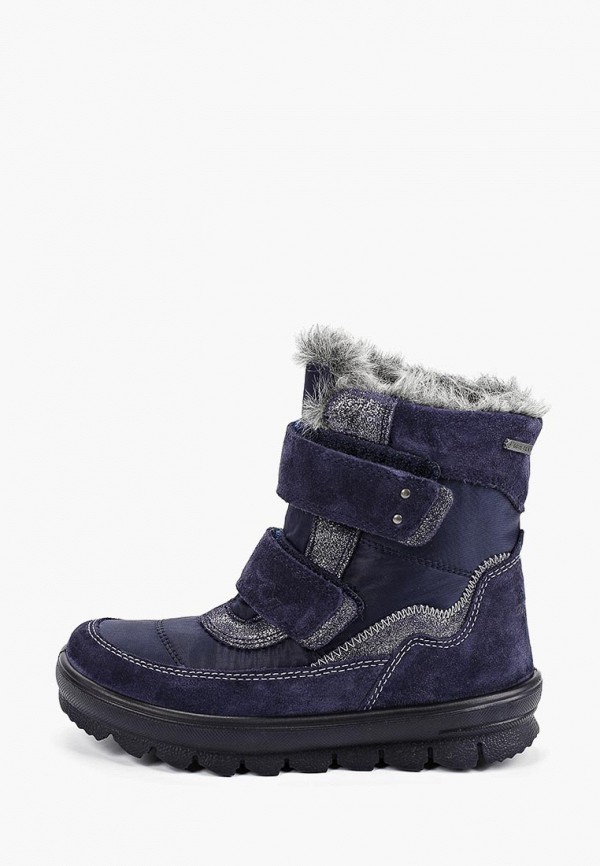 ботинки superfit для девочки, синие