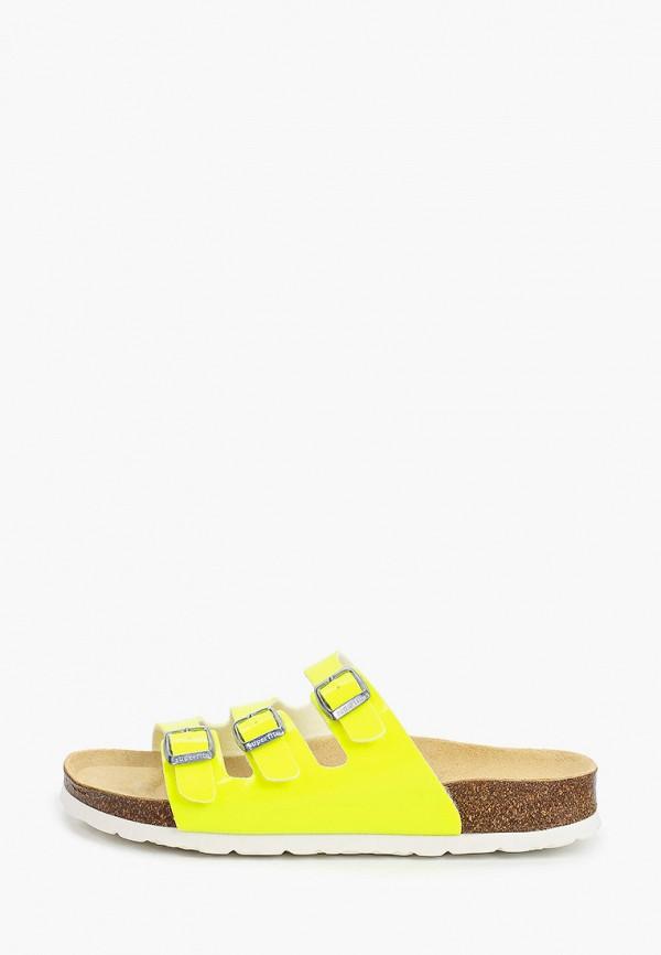 сабо superfit для девочки, желтое