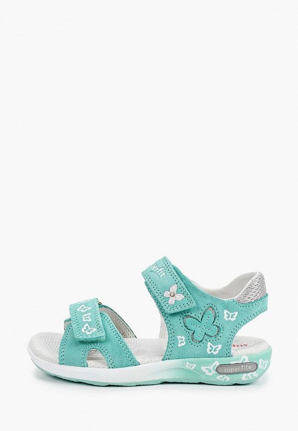 сандалии superfit для девочки, бирюзовые