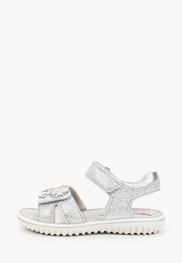 сандалии superfit для девочки, серебряные