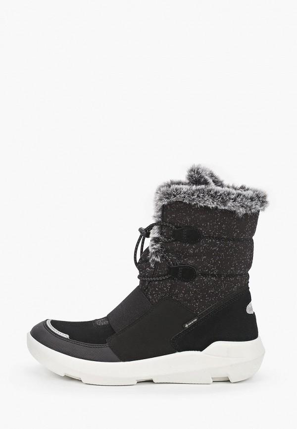 ботинки superfit для девочки, черные