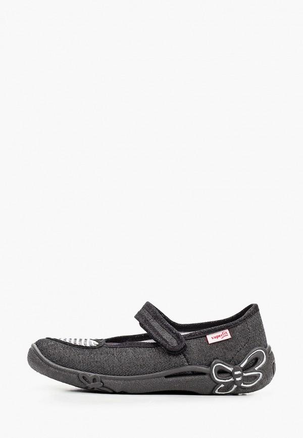 туфли superfit для девочки, черные