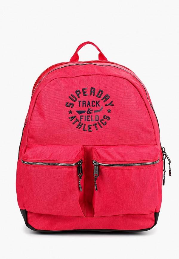 мужской рюкзак superdry, красный