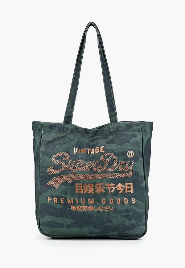 Фото - Мужскую сумку Superdry зеленого цвета
