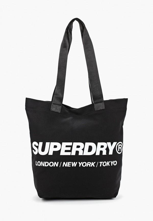 мужская сумка superdry, черная