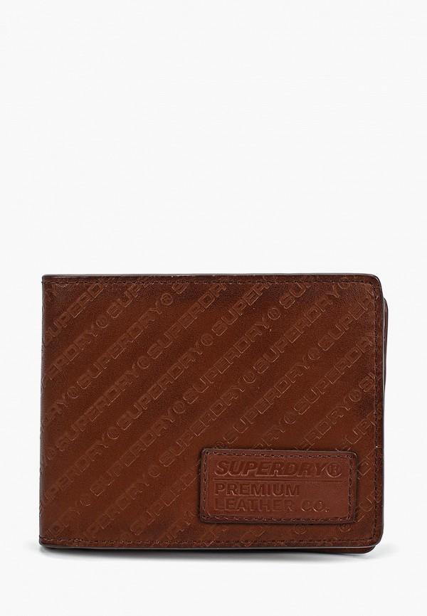 мужской кошелёк superdry, коричневый