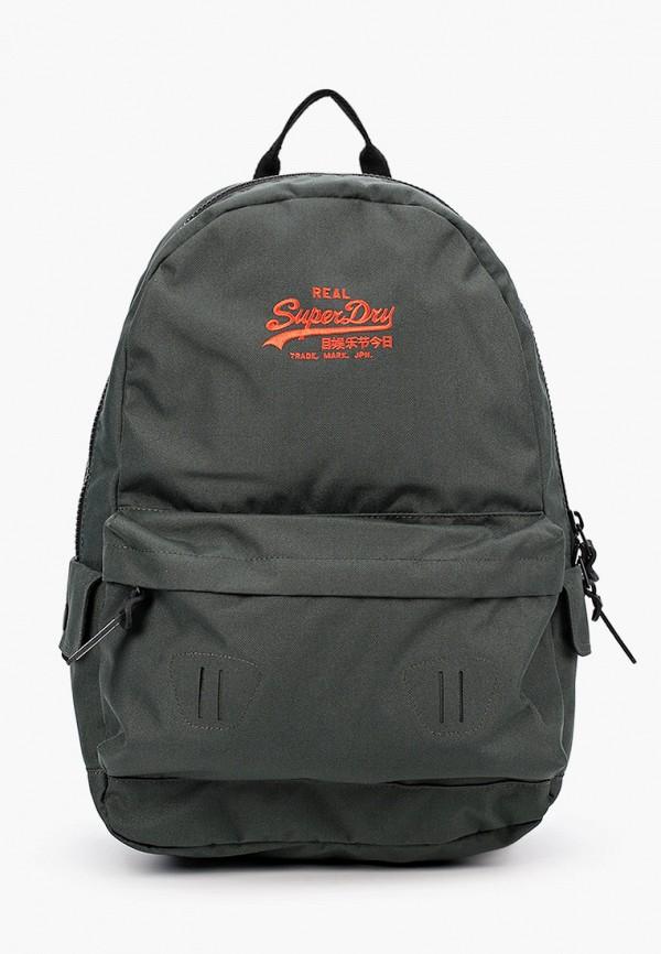мужской рюкзак superdry, зеленый