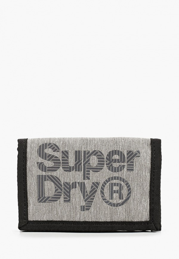 мужской кошелёк superdry, серый