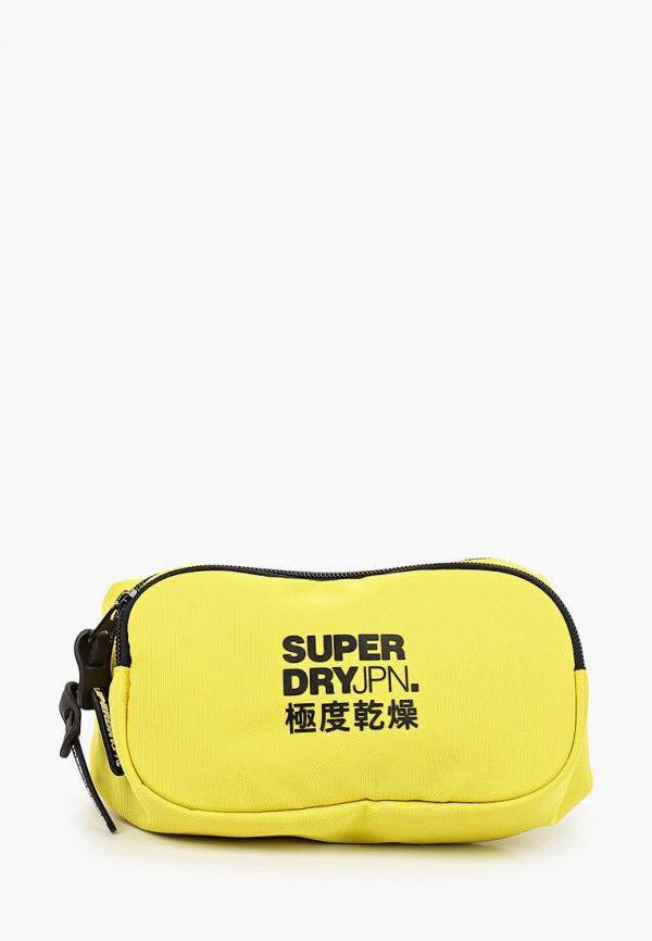 мужская сумка superdry, желтая