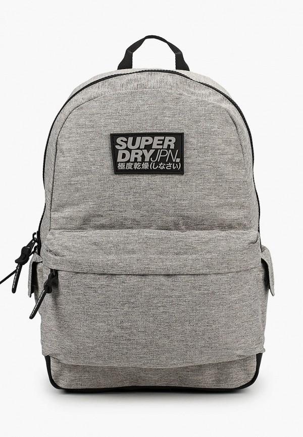 мужской рюкзак superdry, серый