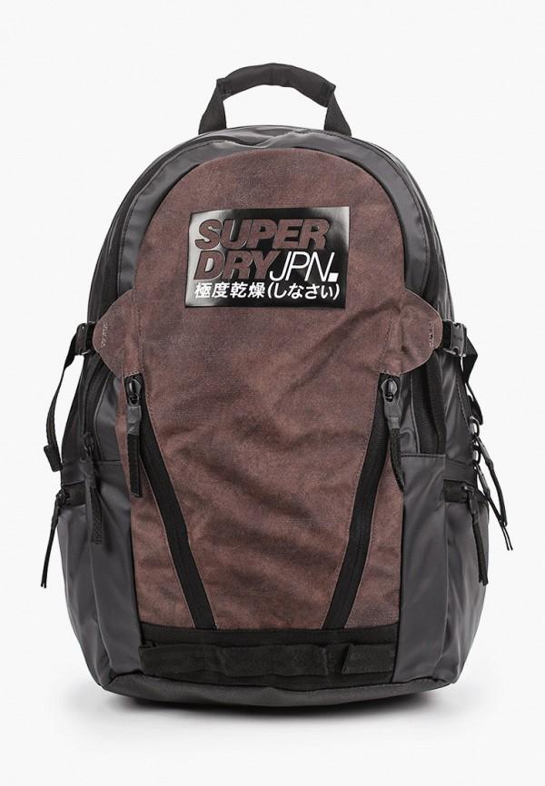 мужской рюкзак superdry, коричневый