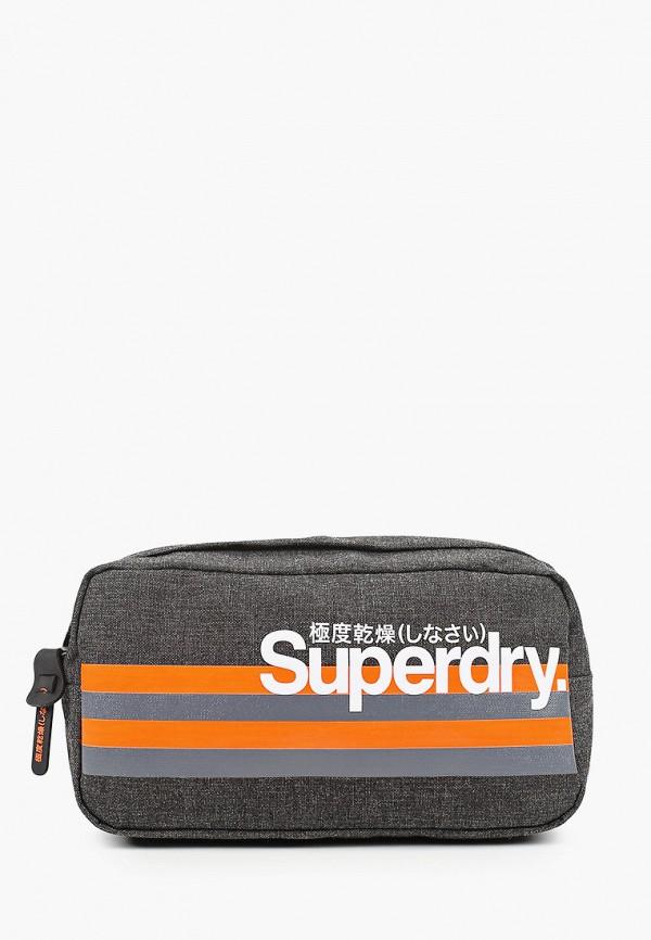 мужская сумка superdry, серая