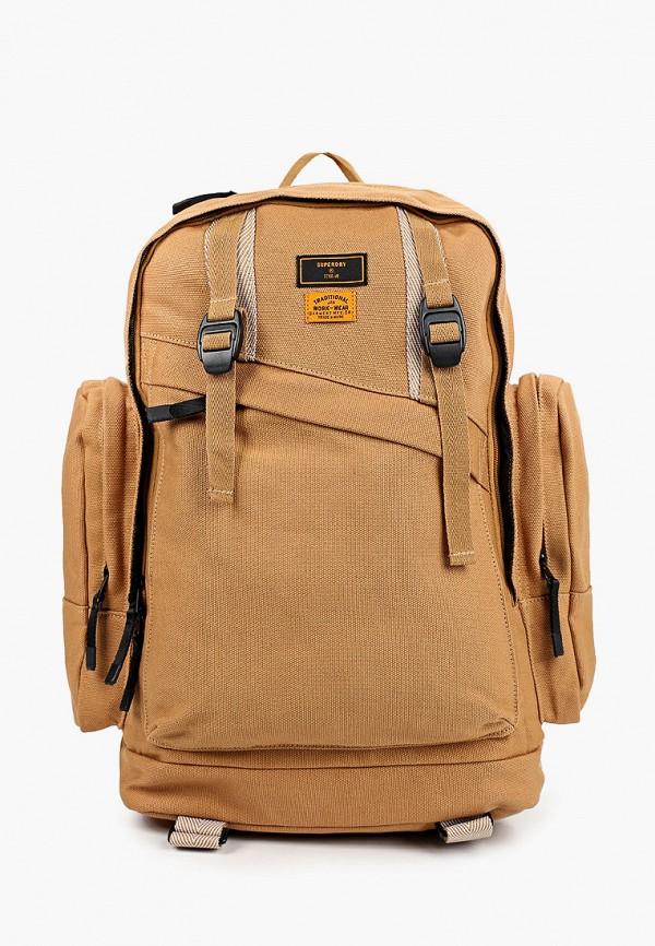 мужской рюкзак superdry, бежевый