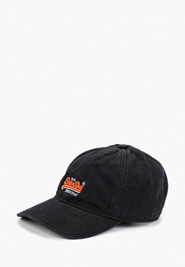 мужская бейсболка superdry, черная