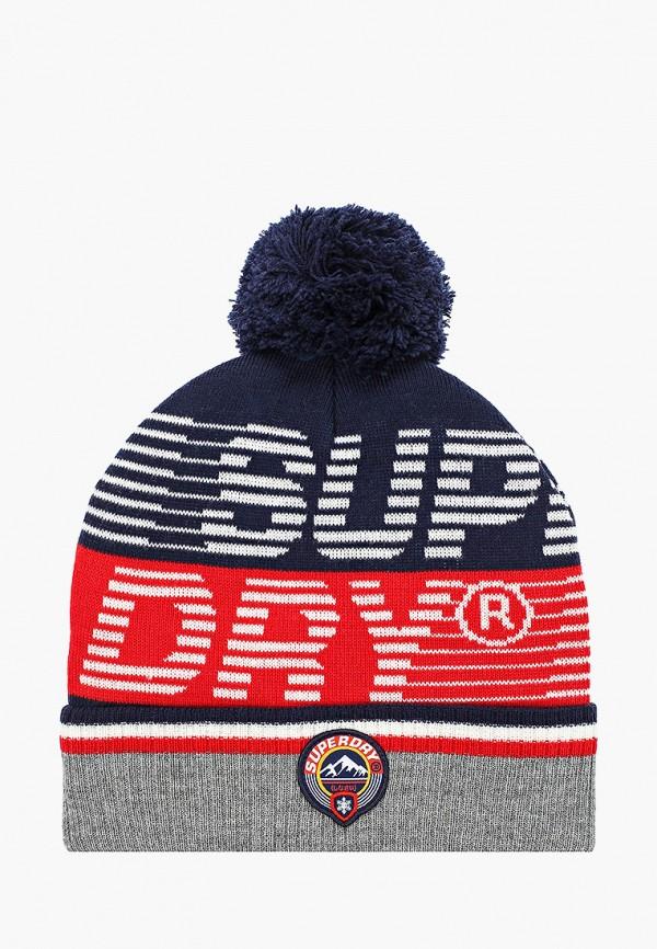 мужская шапка superdry, разноцветная