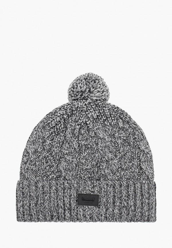 мужская шапка superdry, серая