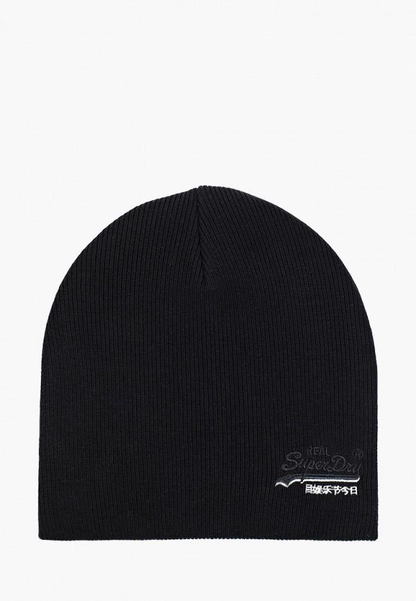 мужская шапка superdry, черная