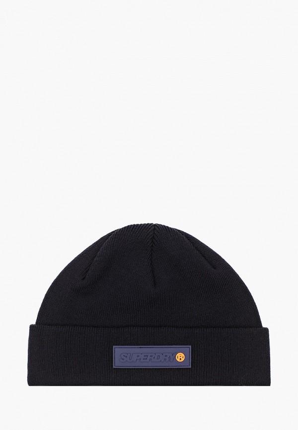 мужская шапка superdry, синяя