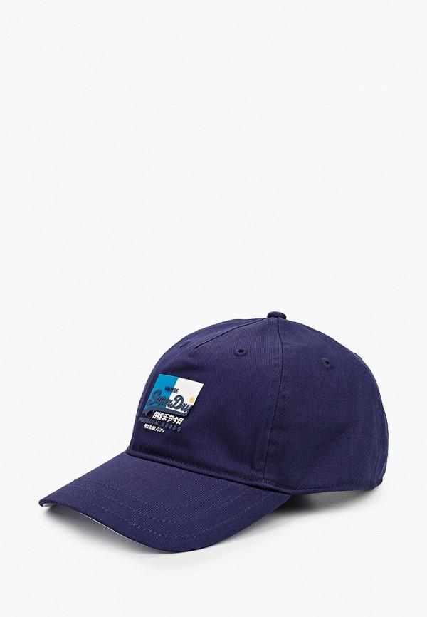 мужская бейсболка superdry, синяя