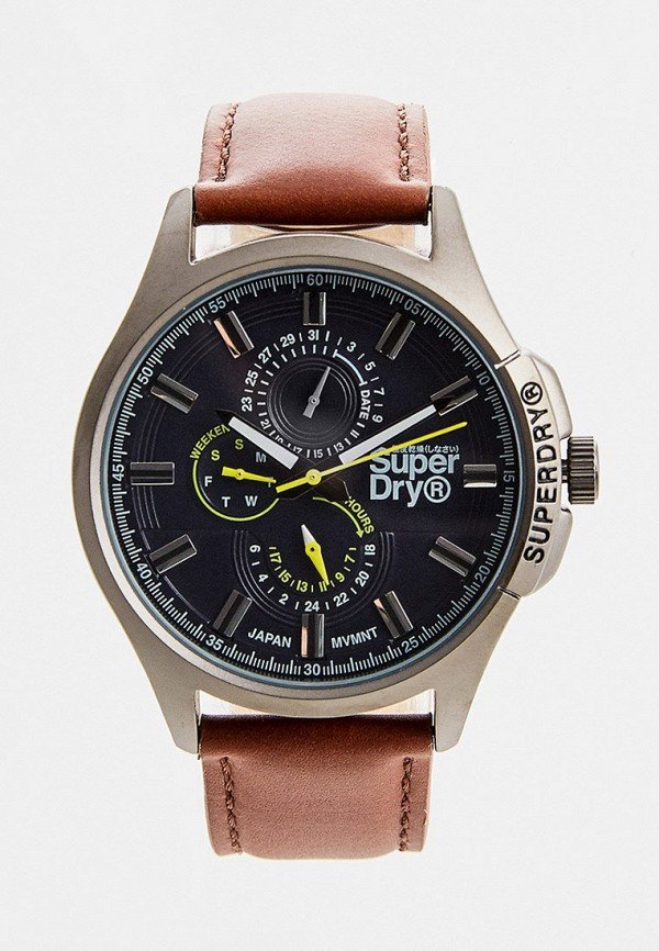 мужские часы superdry, коричневые