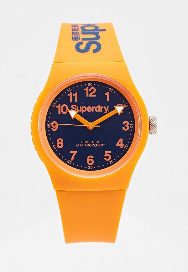 женские часы superdry, оранжевые